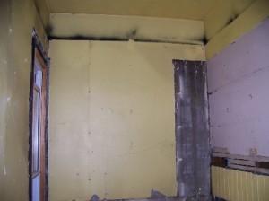 plaster under paneling